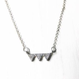 PAVE GOOD VIBES PENDANT DELICATE NECKLACE